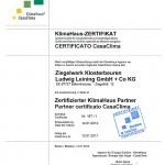 Das Zertifikat der Klimahaus-Agentur.