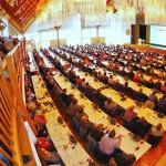 400 Fachbesucher aus dem Allgäu, der Region Bayerisch-Schwaben und dem angrenzenden Baden-Württemberg kamen zum Mauwerkstag Memmingen 2014.  Foto: Ingo Jensen/Jensen media