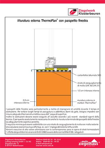 Particolari dettagli tecnici ziegelwerk klosterbeuren - Parapetto finestra ...