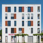 Das Ensemble in Landsberg am Lech erfüllt die Ziele, einen den modernen Ansprüchen an gehobenen Wohnraum entsprechenden Gesamtkomplex in hoher Ausführungsqualität mit viel Platz für Begegnungsflächen zu schaffen.  Bild: tdx/Mein Ziegelhaus/Bauwerk Perspektiven
