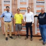 Die künftige Geschäftsführung des Ziegelwerk Schmid: Matthias Hörl, Karl Thomas Schmid, Michael Hörl, Martin Schmid (v.l.n.r.) Bild: Hörl+Hartmann Ziegeltechnik